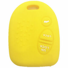Yellow Rubber Key Fob Case Cover Keyless Remote fit for Pontiac S805
