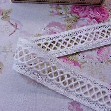 Cotton Crochet Double Edge Lace Trim  Ivory 3.2cm Wide 2yard