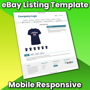 eBay Listing Template Auction HTML Professional Mobile Responsive Design 2021
