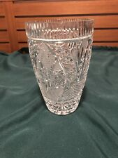 Elegant Large Cut Crystal Art Glass Vase 8""