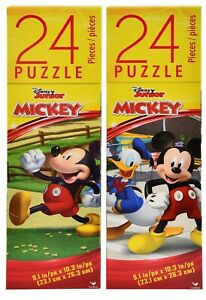 Disney Mickey Mouse Tower Box Puzzle 24 Pcs, Educational Toy Size 9.1x10.3 Inch