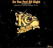 """K.C. & THE SUNSHINE BAND """"DO YOU FEEL ALL RIGHT/I Will.."""" T.K. 1030 (1978) 45/PS"""