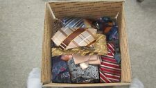 LOT 60+ NECKTIES BULK SILK POLYESTER  CUTTERS CRAFTS WHOLESALE JOB LOTS Resale