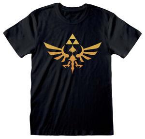Nintendo The Legend Of Zelda 'Hyrule Kingdom Logo' (Noir) T-Shirt - OFFICIEL!