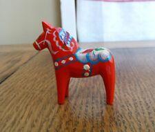 """Tiny 5.4cm 2¼"""" Akta Dalahemslojd Swedish Dala Horse Nils Grannas A Olsson red"""