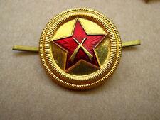 Soviet russian USSR army military cockade hat badge star & riffles