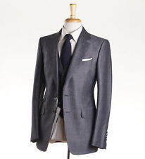 NWT $5820 TOM FORD Gray Sharkskin Wool-Mohair 3-Piece Suit 38 R (Eu 48) O'Connor
