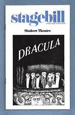 """Jeremy Brett """"DRACULA"""" Edward Gorey / Bram Stoker 1978 Chicago Playbill"""