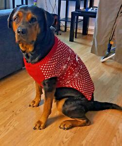 Pet Dog Puppy Fairisle Christmas Winter Jumper Coat Jacket Size S M L Dogs