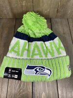 Seattle Seahawks NFL Football New Era Fleece Lined Unisex Beanie Hat Cap OSFA