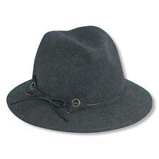 Womens Elegant Scala Premium Crushable Safari Dress Wool Winter Hat-Gray