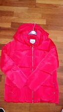 brand new orangey red zara padded outer wear coat age 13-14