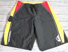 Quicksilver Men`s Boardshorts Size 30 Black Swim Trunks