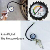 Car Auto Digital Tire Pressure Gauge Meter Tire Air Inflator Repair Tool 220PSI