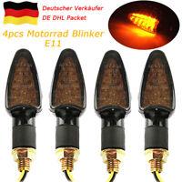 4xE11 Motorrad Quad Roller ATV Mini Blinker Lampe 10mm Universal 14 LEDs Schwarz