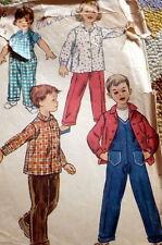 *LOVELY VTG 1950s KIDS OVERALLS & SHIRT Sewing Pattern 2
