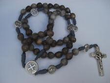 Job's Tears Seed Bead Rosary St. Benedict Handmade Medjugorje