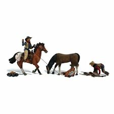 A1940 personnages Chevaux Cowboy Western Woodland Scenics 1/87eme