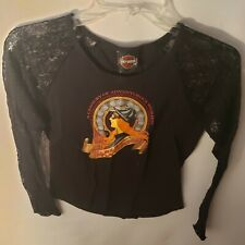 Harley Davidson Laced Longsleeve Womens Shirt Black Size Small