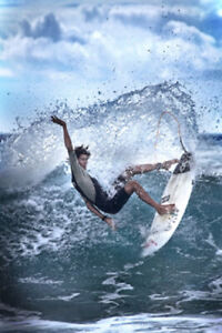DIANNE ENGLISH PHOTOGRAPHY SURFING POSTER (61x91cm) PICTURE PRINT ART BEACH SURF