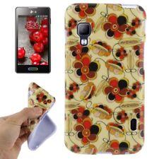 TPU Case für LG E460 Optimus L5 II schwarz rote Blüten Handyhülle Schutzcase