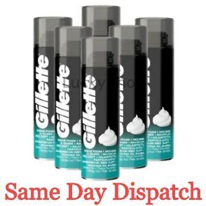 Gillette Classic Sensitive Skin Mens Shaving Foam or Gel 200ml