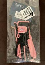 Ovation Pink/Black Child Heart & Horse Gloves (Medium)