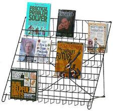 Wire Literature Display 6-Tier Countertop Retail Rack Counter Top Books DVD CD