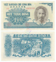 VIETNAM 100 Dong 1951 P-62b BLUE Ho Chi Minh AUNC Almost Uncirculated