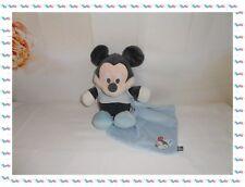 ♣- Doudou Peluche Mickey Mouchoir Brodé Etiquette  Disney Store