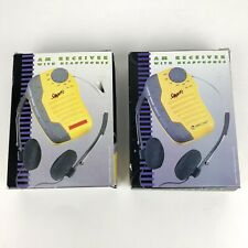 Lifelong AM Sport Receiver with Headphones with Box - Lot of 2 VTG