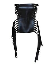 SPECTACULAR NWB ANN DEMEULEMEESTER 14 BUCKLE BLACK LEATHER CORSET BELT