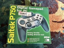 Saitek P750 PC Gamepad With Original Box, Instructions, CD Tested Working VG
