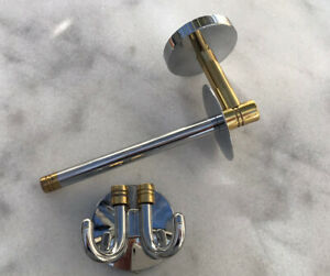 Toilet Roll Holder And Double Hook bimetal Smedbo