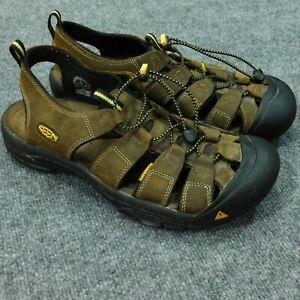 KEEN NEWPORT Sport Sandals Men's 13 Slip On Bungee Lace Brown 1001870