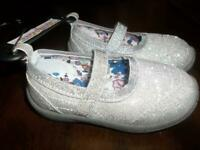 GARANIMALS INFANT/TODDLER GIRLS SIZE 5 SILVER SLIP ON SHOES NEW WITH TAGS