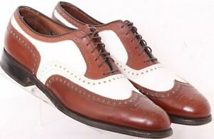 Allen Edmonds Broadstreet Brown Lace-Up Wingtip Oxford Shoes Men's US 11A