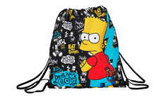 Kids Official Bart The Simpsons Gym Bag School Drawstring Backpack Sports Shoe