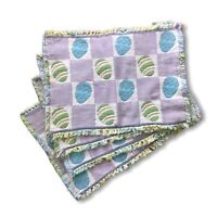 """Set of 4 Easter Placemats Tapestry Woven Pastel Easter Eggs 19"""" X 13"""""""