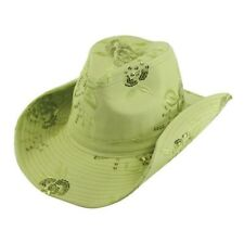 0e8f7c70b0f859 LADIES FLOWER SEQUIN WESTERN COWBOY HAT --- LIME --- NEW