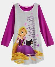 NWT Disney Princess Girls Tangled Rapunzel Nightgown Purple Gray Little Kids 4