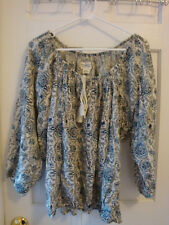 Ralph Lauren Denim and Supply Boho Blouse Size XL Women's Blue Floral