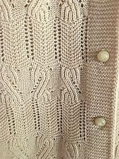 VTG Boepple 60s Sweater Vest Ivory Orlon Acrylic Women's  S NWOT Unique Knit