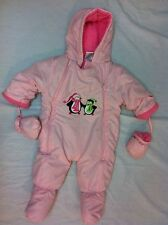 Baby Girls Snowsuit by Okie-Dokie Hood With Mittens Size:6-9M Light Pink Color