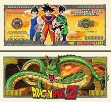 DRAGON BALL Z BILLET MILLION DOLLARS US! collection Manga Série Son Goku sangoku