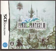 FINAL FANTASY III 3 FF3 FFIII NINTEND DS NDS JAPAN