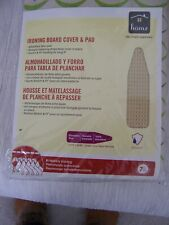 Homz Ironing Board Pad & Cover Standard Size 15x55 Stretch & Fit X Thick Pad