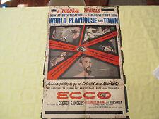 1965 Ecco documentary original! 27x41 1 sheet movie poster GD+