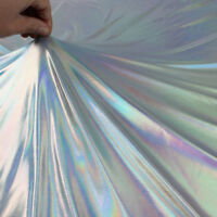 Iridescent Spandex Fabric stretch silver bronzing fabric wide sold by Yard