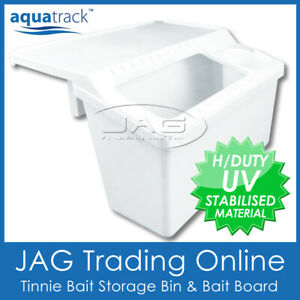 TINNIE BAIT STORAGE BIN BAIT BOARD & DRINK CUP HOLDER - Fishing Fillet Table Box